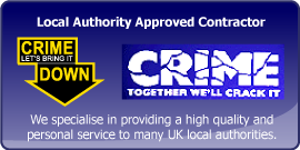 local authority approved contractor together we will crack crime