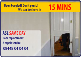 ASL Locksmiths | Door Replacement and Burglary Repair